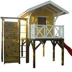 Stelzenhaus Swenson mit Rutsche - das Spielhaus Holz bei KASO