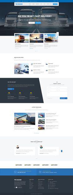 Express - Transports and Logistics PSD Template - PSD Templates   ThemeForest