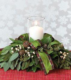 christmas flower designs | bent floral design table centre piece flower arrangement 3 flower ...