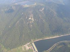Čierny Váh: Prečerpávacia vodná elektráreň Airplane View