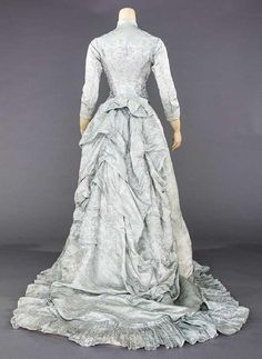 BLUE MATELESSE RECEPTION DRESS, 1870-1880 - 5