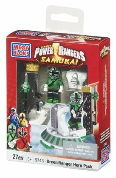 Mega Bloks Power Rangers Samurai Green Hero Pack by Mega Bloks. $10.97. Build, collect and display the buildable Zord podiums. Customize the Rangers with their interchangeable armor sets and helmets. Collectable weapons include Barracuda Blade, Forest Spear, Earth Slicer and Fire SmasherEach set includes one Mega Blade. 5 different Rangers, in mega or super mega mode, featuring unique armor and weapons. From the Manufacturer                Defend the city from the forces of t...