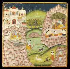 An illustration, probably to a Siva Rahasya series Jodhpur, circa 1827