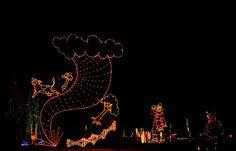 Tornado Christmas Light at Island Park in Winfield, KS. Only in KS!!