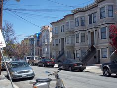 looking down from 24th street and Alabama to 23rd street-San Francisco Mission District.