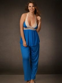Plus Size Super Soft and Comfy Pajama Pants, Turquoise