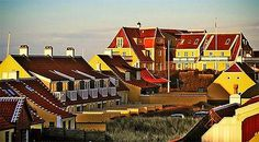 Yellow architecture in Skagen, Denmark: Mellow and Yellow in Skagen. The old town of Skagen
