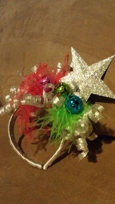 Christmas headband Tacky Christmas Party, Whoville Christmas, Tacky Christmas Sweater, Christmas Hat, Christmas Costumes, Christmas Holidays, Christmas Decorations, Christmas Headbands, Whoville Costumes