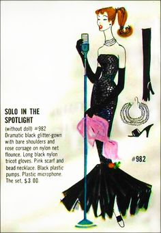 Barbie, 1961  edited detail from Mattel Fashion Catalog  christian monotone