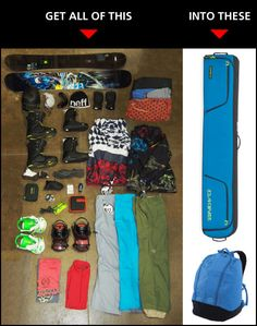 How to pack for your snowboard or ski trip out west and save money on baggage fees.