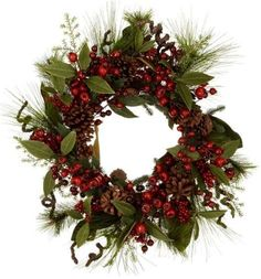 Buy John Lewis Premium Red Berry and Pine Cone Wreath, from our Christmas Wreaths & Garlands range at John Lewis & Partners. Pine Cone Christmas Tree, Christmas Tree Ornaments, Christmas Wreaths, Christmas Decorations, Holiday Decor, Christmas Is Coming, Christmas Crafts, Christmas Inspiration, Christmas Ideas