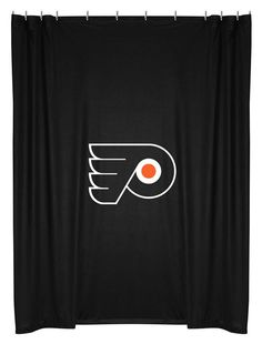 Philadelphia Flyers NHL Sports Coverage Team Color Shower Curtain #SportsCoverage #PhiladelphiaFlyers