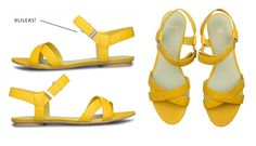 the daily muse  crazy camper measuring tape sandals!