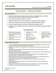 Sample Resume For Project Manager In Manufacturing  Riez