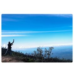Perfect blue sky in the morning, at Ijen crater, Indonesia