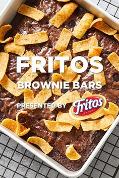 The perfect balance of sweet, salty and crunchy? That's what happens when Fritos meet brownies. #LetsFritos Pound Cake Recipes, Easy Cake Recipes, Sweet Recipes, Baking Recipes, Cookie Recipes, Snack Recipes, Dessert Recipes, Snacks, Cupcake Recipes