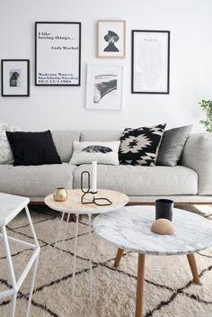 Blanco, madera y detalles en negro. Estilo nordico para una preciosa casa
