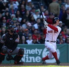 Brock Holt hit an RBI triple that lifted the Red Sox to a 4-2 victory over the Orioles at Fenway Park on 4.19.14..
