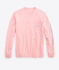 Shop Long-Sleeve Vintage Graphic T-Shirt at vineyard vines size: xxs, xs, s