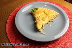 Tortinha Salgada Low Carb   receita rápida e fácil para perder peso com low carb, mude o recheio conforme seu gosto!