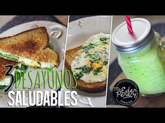 3 IDEAS DE DESAYUNO SALUDABLES - HEALTHY BREAKFAST - YouTube