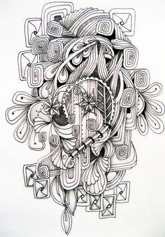 Zentangle art . really cool