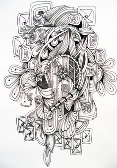 Zentangle art . really cool