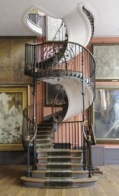 Art Nouveau Staircase in the house of painter Gustave Moreau, Paris