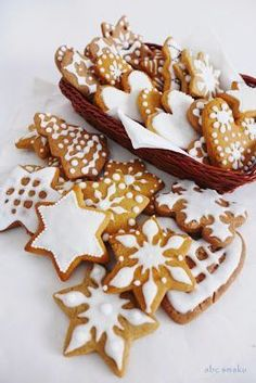 Mary Christmas, Polish Christmas, Christmas Baking, Christmas Treats, Christmas Cookies, Polish Recipes, Clean Recipes, Beautiful Cakes, Gingerbread Cookies