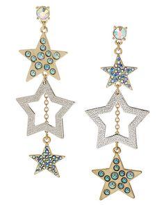STARGAZER STAR LINEAR EARRING MULTI accessories jewelry earrings fashion