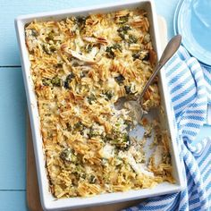Trisha Yearwood uses pressure-cooked chicken breasts for the main ingredient in this dish. The rich casserole will feed a crowd or make great leftovers.