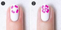 Tropical Flower Nails tutorial
