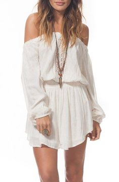 Rip Curl 'Starlight' Off the Shoulder Dress available at #Nordstrom