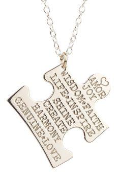 Miriam Merenfeld  Inspirations Collection Puzzle Piece Pendant Necklace