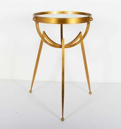 Modernist Astronomic Side Table with Tripod Design | From a unique collection of antique and modern side tables at https://www.1stdibs.com/furniture/tables/side-tables/