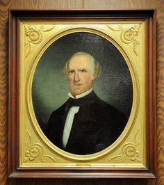 "Sam Houston, 1875, by Thurston Donnellan. ""Donnellan (1845-1908) was popular artist in Houston... As a teenager, Donnellan enlisted in the 2nd Texas Infantry during the Civil War and served as the regiment's drummer. Because of his age, Donnellan was not permitted to cross the Mississippi River with the regiment and was reassigned for duty in Texas...Donnellan is best known for his portraits of Sam Houston."""