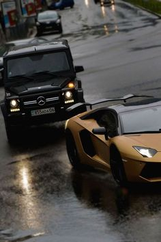 Lamborghini Aventador and Mercedes G class Suv Cars, Car Car, Sport Cars, Mercedes Benz G Class, Mercedes Car, Ferrari 612, Rolls Royce, My Dream Car, Dream Cars