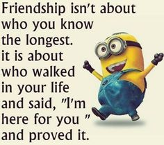 Top 30 Famous Minion Friendship Quotes - Quotes and Humor Minion Meme, Cute Minions, Minions Quotes, Minion Stuff, Evil Minions, Minion Photos, Friendship Memes, Friend Friendship, Quote Of The Week