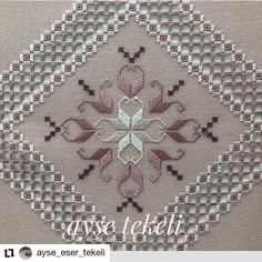 Hardanger Embroidery, Paper Embroidery, Hand Embroidery Designs, Cross Stitch Embroidery, Embroidery Patterns, Cross Stitch Patterns, Crochet Doily Patterns, Doilies Crochet, Herringbone Stitch