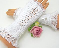 lace gloves   white   red   winter green   pink/October   witchy/orange