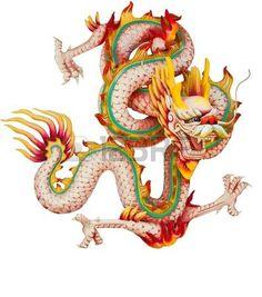 dragon chino: Dragón Rosa aislada sobre fondo blanco  Foto de archivo