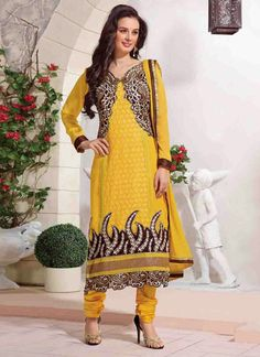 Yellow Patiyala Latest Salwar Suit | Things to Wear | Pinterest ...