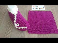 İki şiş kare örgüden çok kolay patik yapımı/İki şiş patik modelleri - YouTube Knitting Socks, Elsa, Knitting Patterns, Booty, Youtube, Make It Yourself, Videos, Shoes, Fashion