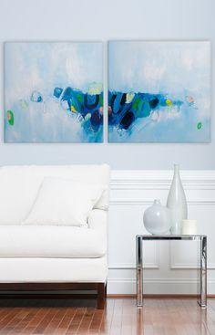 Moderne abstrakte Gemälde, große abstrakte Kunst, Acryl-Malerei, Gemälde 40 x 20, Light Blue, abstrakte Kunst, Duealberi von DUEALBERI auf Etsy https://www.etsy.com/de/listing/207998998/moderne-abstrakte-gemalde-grosse