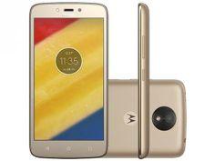 "Smartphone Motorola Moto C Plus 8GB Ouro - Dual Chip 4G Câm. 8MP Tela 5"" HD Proc. Quad Core"