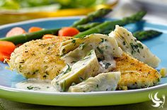 Chicken and Pasta with Lemon & Artichoke Sauce