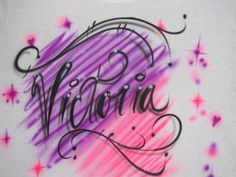 Airbrush TShirt with your Name by ATimelessTouchVA on Etsy, $15.00