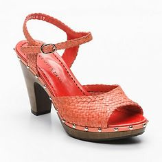 Pons Quintana woven high-heel sandal in coral