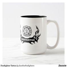Firefighter Tattoo Two-Tone Coffee Mug