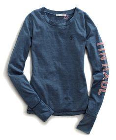 Look what I found on #zulily! Blue Heather Jersey Knit Tee #zulilyfinds